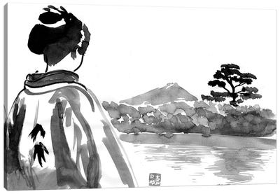 The Geisha Is Watching Canvas Art Print