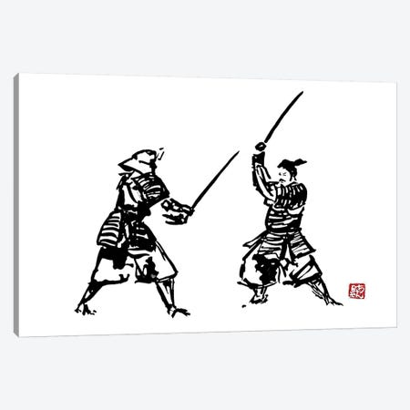 The Honor Of The Samurai II Canvas Print #PCN178} by Péchane Art Print