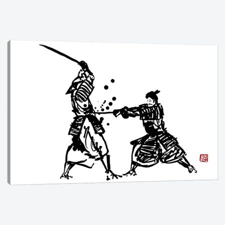 The Honor Of The Samurai III Canvas Print #PCN179} by Péchane Canvas Art Print