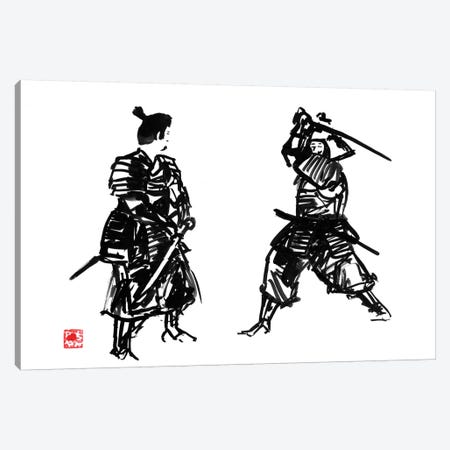 Touching Swords I Canvas Print #PCN187} by Péchane Canvas Print