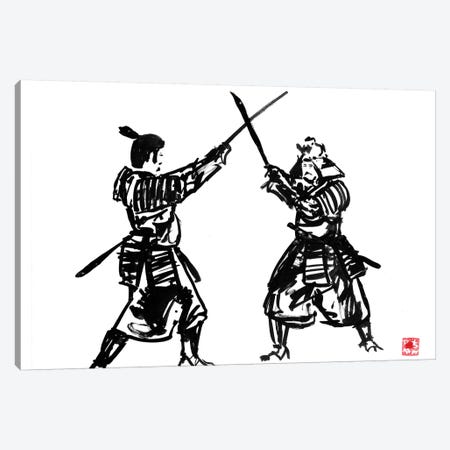 Touching Swords II Canvas Print #PCN188} by Péchane Canvas Art