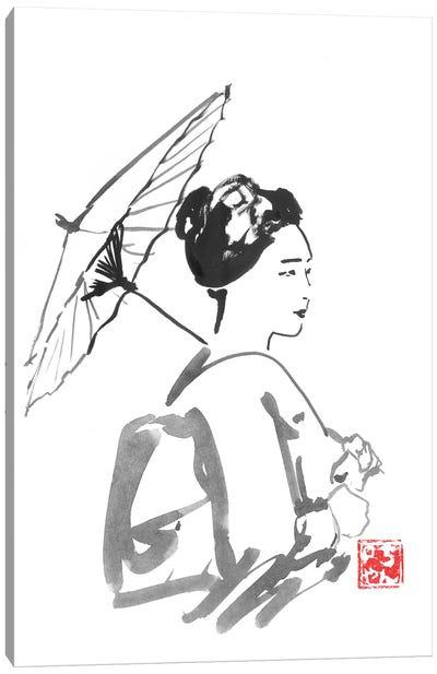 Walking Geisha Canvas Art Print