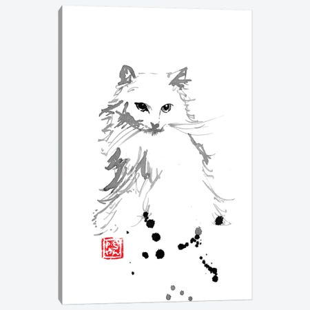 White Fur Canvas Print #PCN197} by Péchane Canvas Wall Art