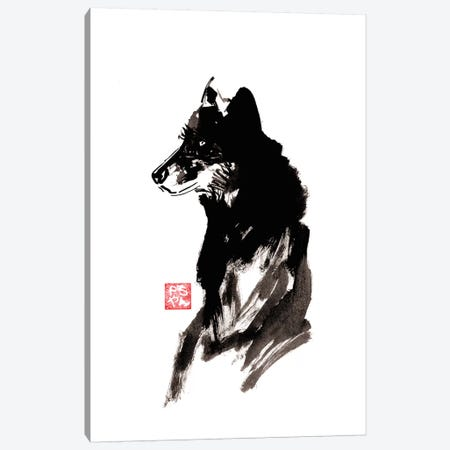 Wolf Canvas Print #PCN198} by Péchane Canvas Art Print