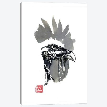 Coq Head Canvas Print #PCN213} by Péchane Canvas Art