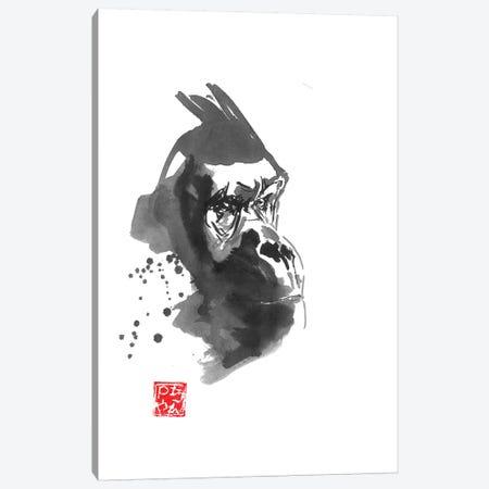 Gorilla Thoughts Canvas Print #PCN220} by Péchane Art Print