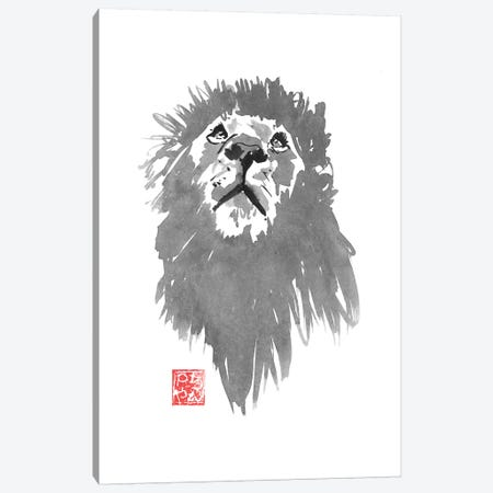Lion Hunting Canvas Print #PCN227} by Péchane Canvas Art