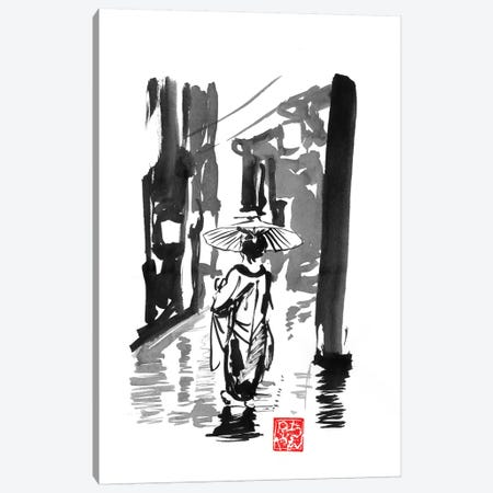 Rainy Day Canvas Print #PCN237} by Péchane Art Print
