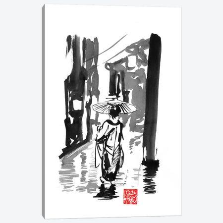 Rainy Day Canvas Print #PCN237} by Péchane Art Print