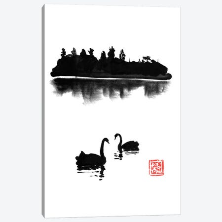 Swan Island Canvas Print #PCN247} by Péchane Canvas Artwork