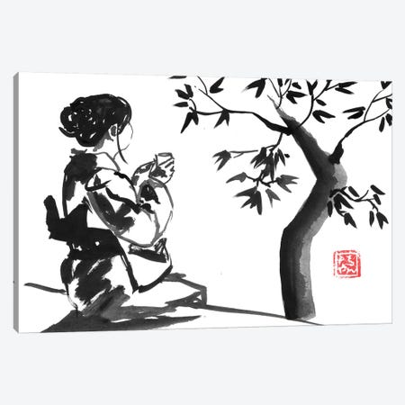 Tea Time Canvas Print #PCN250} by Péchane Canvas Artwork