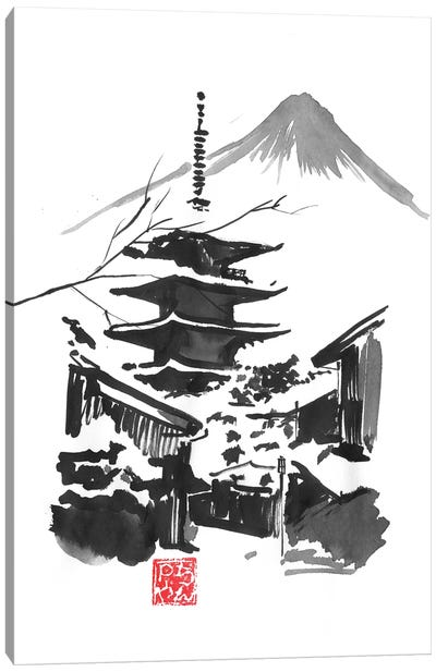 Fuji San And Temple Canvas Art Print