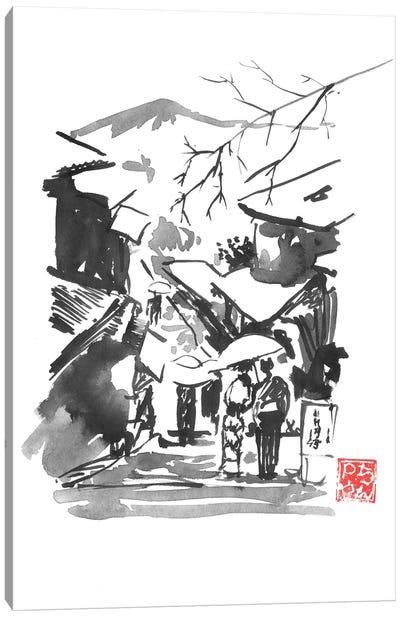 Fuji San In Snow Canvas Art Print