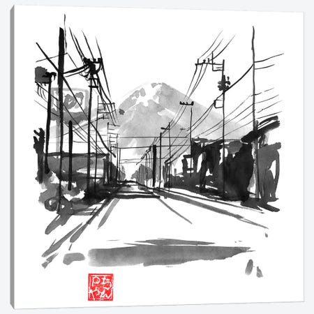Fujiyoshida II 3-Piece Canvas #PCN261} by Péchane Canvas Print