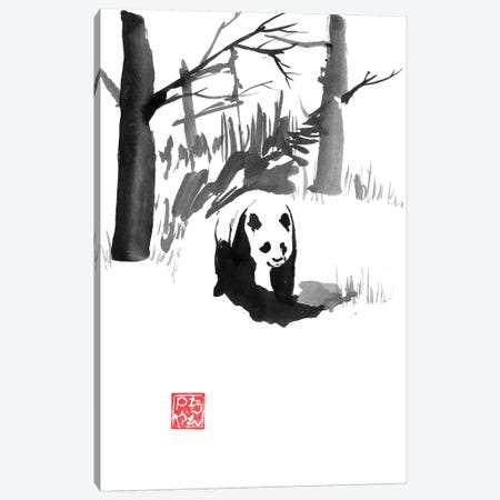 Panda In The Forest 3-Piece Canvas #PCN263} by Péchane Canvas Print