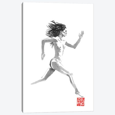 Running Nude Canvas Print #PCN264} by Péchane Canvas Wall Art