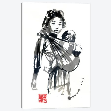 Girl And Baby Canvas Print #PCN268} by Péchane Canvas Print