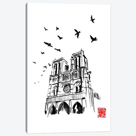 Notre Dame Canvas Print #PCN272} by Péchane Canvas Art