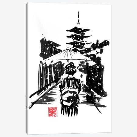 Pagoda Under Snow Canvas Print #PCN273} by Péchane Canvas Art