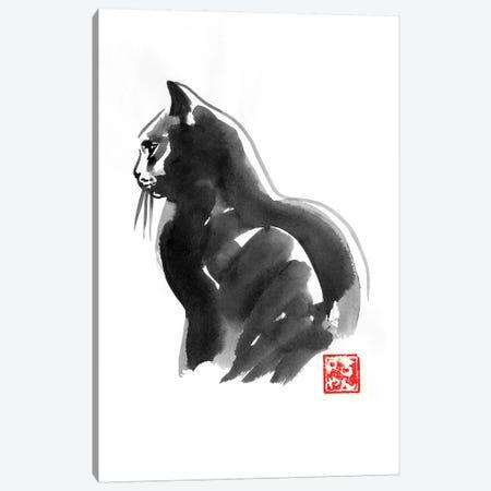 Profile Cat Canvas Print #PCN274} by Péchane Canvas Art Print