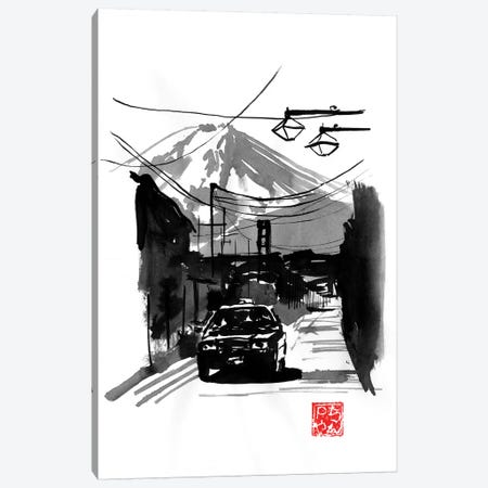 Fujiyoshida And Car Canvas Print #PCN281} by Péchane Canvas Art Print