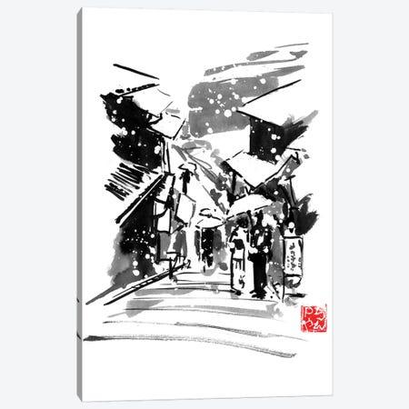 Fujiyoshida Under Snow Canvas Print #PCN282} by Péchane Canvas Art Print