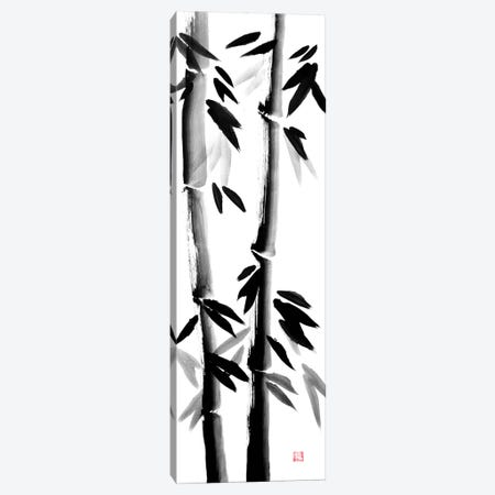 Bamboos On Canvas 3-Piece Canvas #PCN288} by Péchane Art Print