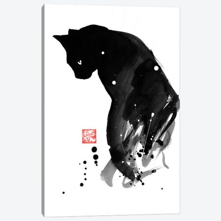 Chat A Tache Canvas Print #PCN28} by Péchane Canvas Art Print