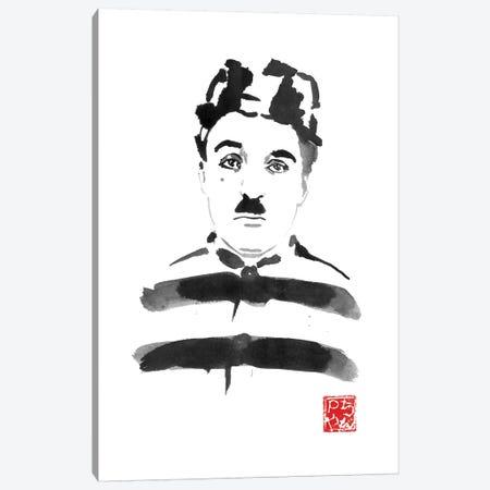 Charlie Chaplin Prisoner Canvas Print #PCN293} by Péchane Canvas Wall Art