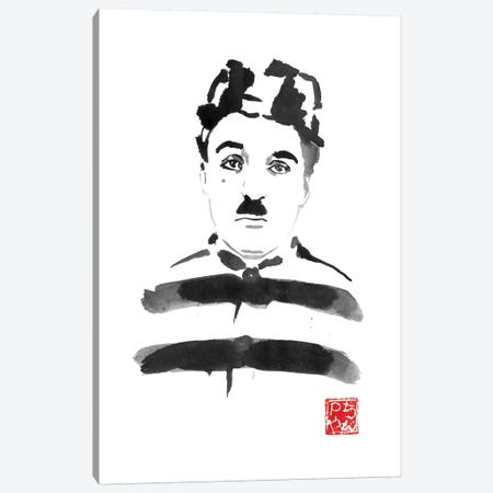 Charlie Chaplin Prisoner Canvas Print #PCN293} by Péchane Canvas Wall Art