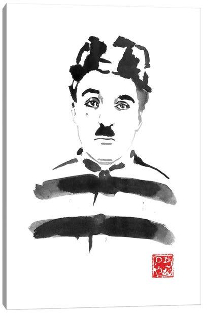 Charlie Chaplin Prisoner Canvas Art Print