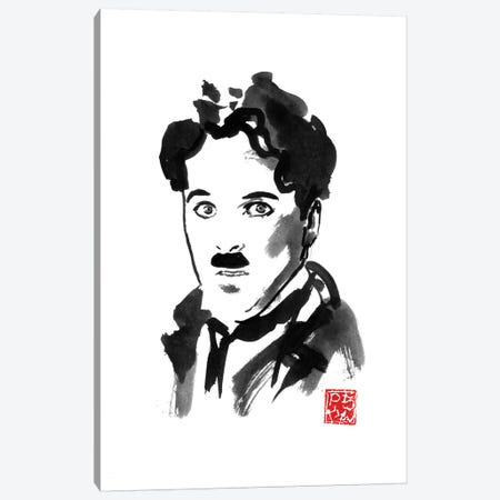 Charlie Chaplin Canvas Print #PCN294} by Péchane Canvas Art Print