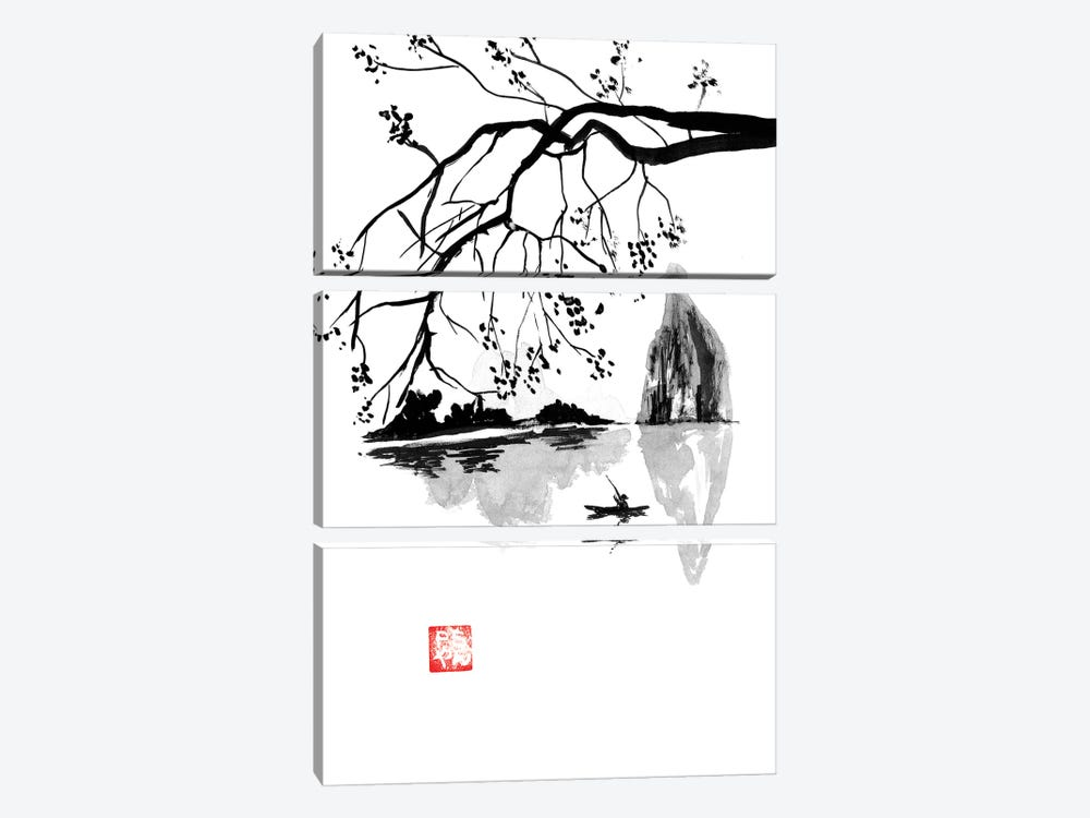 Along by Péchane 3-piece Canvas Print