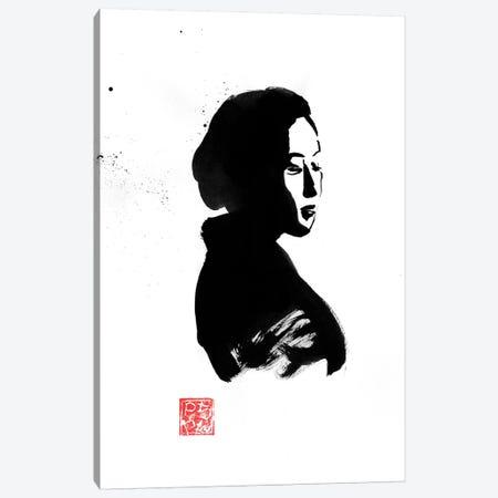 Geisha In Black Canvas Print #PCN302} by Péchane Canvas Wall Art