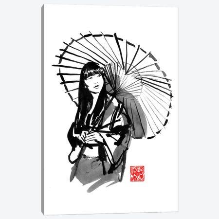 Umbrella's Geisha Canvas Print #PCN303} by Péchane Canvas Art