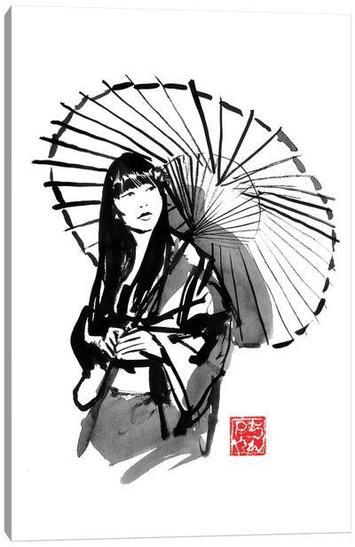 Umbrella's Geisha Canvas Art Print