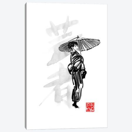 Geisha Canvas Print #PCN304} by Péchane Canvas Art Print