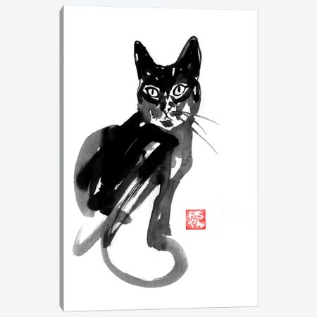 Chinese Cat Canvas Print #PCN31} by Péchane Canvas Wall Art
