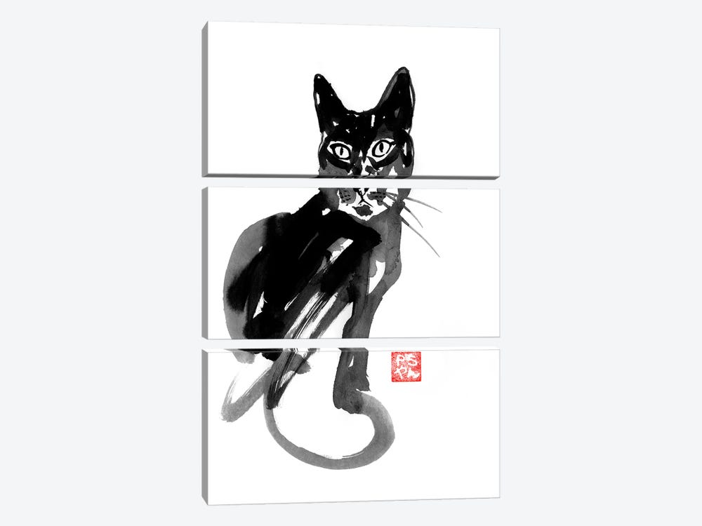 Chinese Cat by Péchane 3-piece Art Print