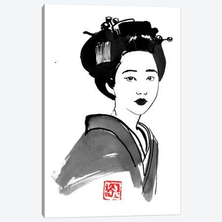 Geisha Starring Canvas Print #PCN326} by Péchane Canvas Art Print