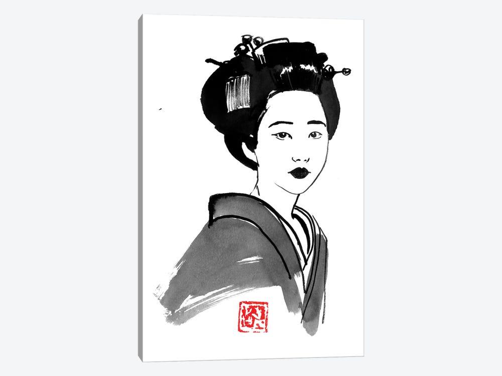 Geisha Starring by Péchane 1-piece Canvas Artwork