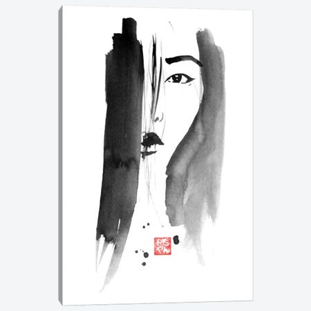 Chinese Woman Portrait Canvas Print #PCN32} by Péchane Canvas Artwork