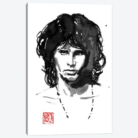 Jim Morrison Canvas Print #PCN331} by Péchane Canvas Art Print