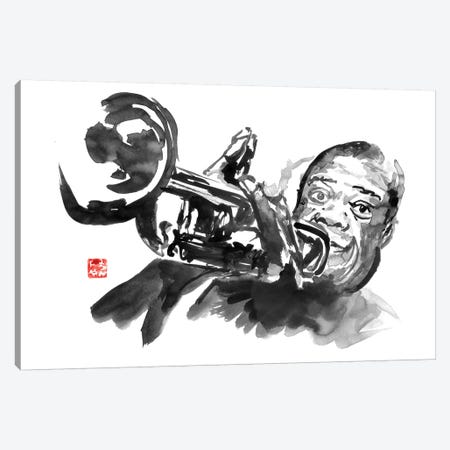 Louis Armstrong Canvas Print #PCN334} by Péchane Canvas Wall Art