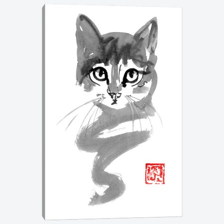 Cute Cat Line Canvas Print #PCN358} by Péchane Canvas Print
