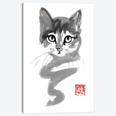 Cute Cat Line Canvas Print #PCN358} by Péchane Canvas Print