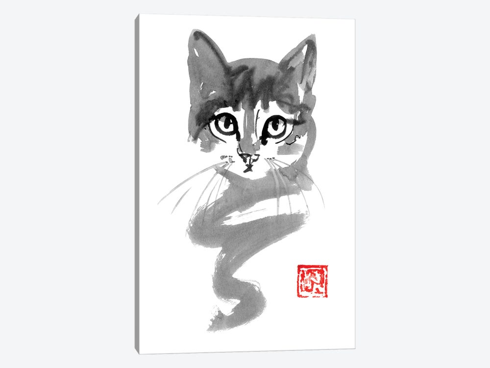 Cute Cat Line by Péchane 1-piece Art Print