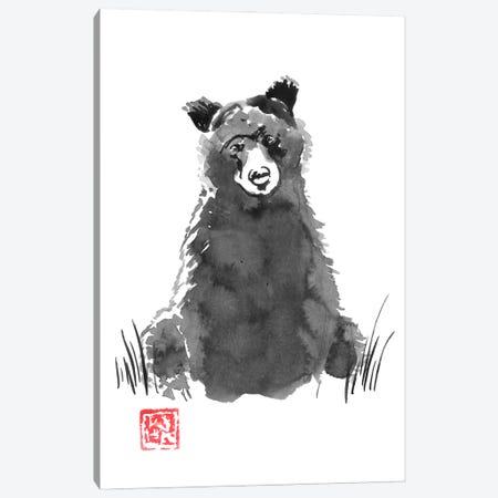 Bear Canvas Print #PCN376} by Péchane Canvas Wall Art