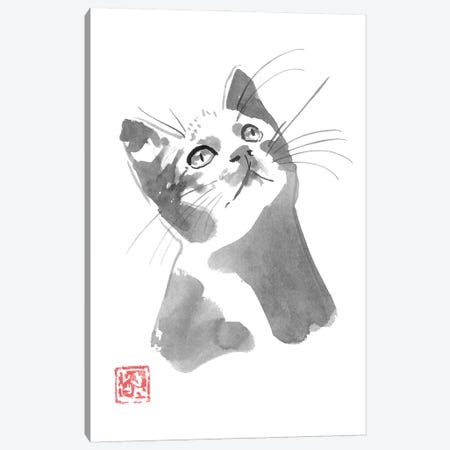 Cat Watching Canvas Print #PCN388} by Péchane Canvas Wall Art