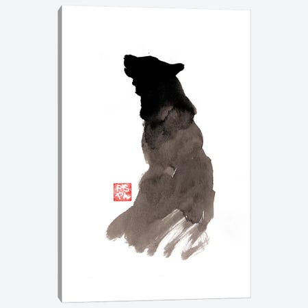 Crying Wolf Canvas Print #PCN38} by Péchane Canvas Art